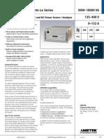 California Instruments Lx Datasheet