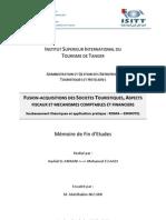 Fusion-Acquisitions Des Societes Touristiques