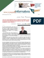 07-05-12 AÚN NO SALE MÉXICO DE LA CRISIS ECONÓMICA; NOS ACECHAN LOS PELIGROS DE EUROPA Y EE. UU