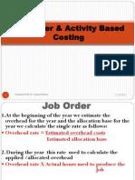 Job Order Activity Based Costing