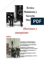 Elecciones y Anarquismo de Errico Malatesta y Saverio Merlino