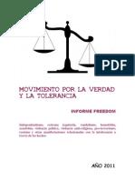 Informe Freedom Movimiento por la Verdad y la Tolerancia