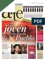 Una joven en la batalla de Puebla