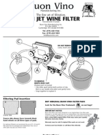Mini Jet Wine Filter Instructions