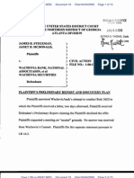 Plaintiffs' Perliminary Report and Discovery Plan
