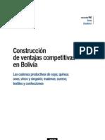 Construcción de ventajas competitivas en Bolivia, cadenas soya, quinua y otras, Antelo, CAF, 2007