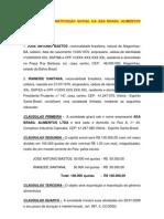 Contrato de Const Social - Asa Brasil Alimentos Ltda