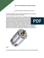Diferencia Entre El Motor de Corriente Alterna y Motor de Corriente Continua
