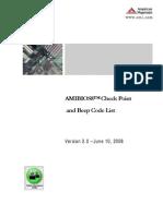 AMIBIOS8 Checkpoint and Beep Code List PUB