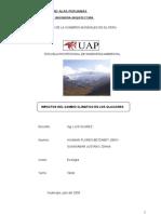 Disminucion de glaciares debido al cambio climatico en Huancayo