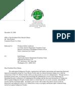 OBAMA TRANSITION TEAM-- Letter 20dec08 ENGLISH