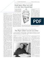 """The Nazis knew Pius XII well which is they feared him"" by Dimitri Cavalli in L'Osservatore Romano (Weekly edition in English, February 10, 2010)"