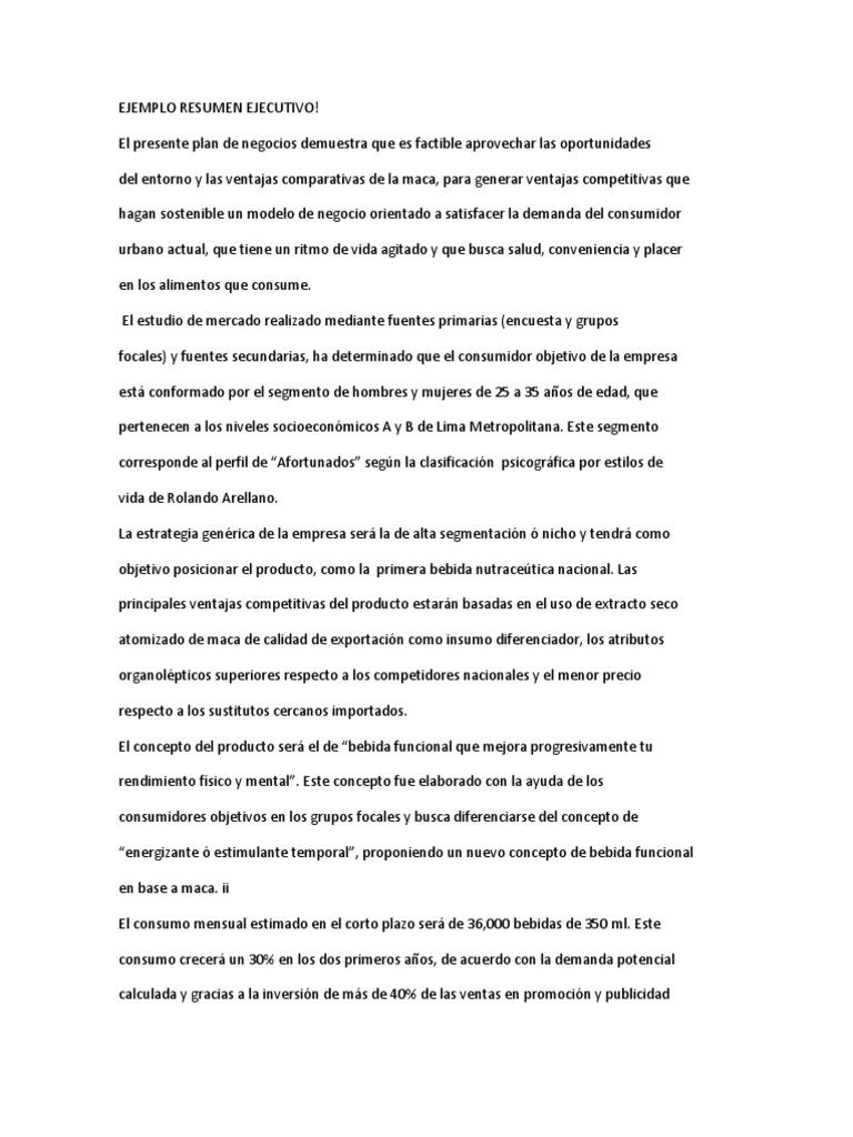 Erfreut Ejemplo De Conclusion De Un Rescucen Ejecutivo Bilder ...