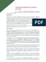 A ascensão dos governos de esquerda na America Latina no século XXI