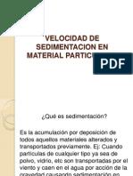 Diapositivas Velocidad de Sedimentacion