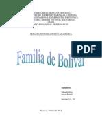 Familia de Bolivar