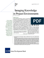Managing Knowledge in Project Environments