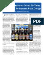 EDUCATION 401K ROSENBAUM Advisors Should Value the Art of Plan Design