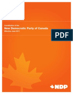 NDP Constitution (Nov 2011)