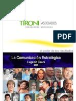 Comunicación Estratégica - Eugenio Tironi 2005