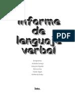 Informe Lenguaje Verbal