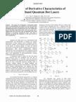 Simulation of Derivative Characteristics Of
