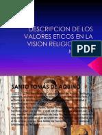 Descripcion de Los Valores Eticos en La Vision Religiosa Del Mundo