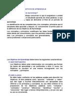 Clasificación de objetivos(1)