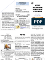 Church Newsletter - 06 May 2012
