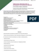 Norma Oficial Mexicana Para La Organizacion y Funcionamiento de Residencias Medicas