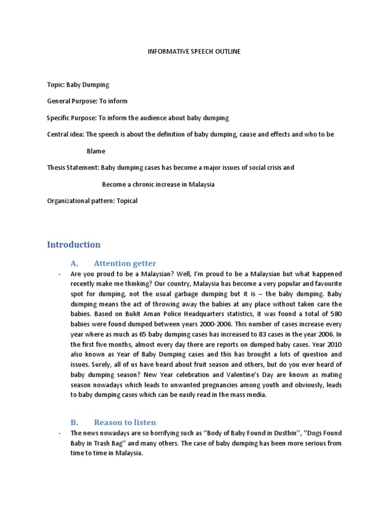 example essay baby dumping Argument essay #4 click here to view essay a deadly tradition (pdf document) sample argument essay #5 click here to view essay society begins at home (pdf document) sample argument essay #6.