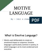 Emotive Language
