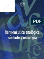 Hermeneuticca Analogica,Simbolo y Ontologia