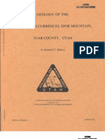 Geology of the Fluorite Occurrences, Spor Mountain, Juab County Utah