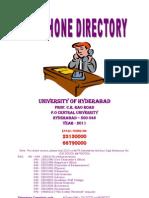 HCU Telephone Directory