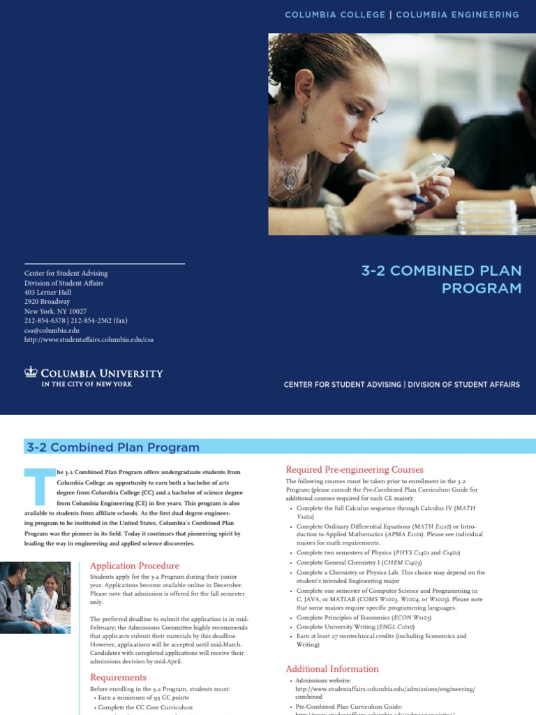 3-2 Columbia Program | Columbia University | University And