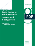 Equity and Social Justice in Water Resource Management in Bangladesh