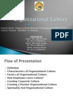 Presentation on Organizational Culture