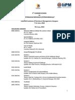 Programme Schedule