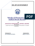study of fluctuations in stock market