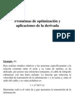 Problemas de optimización y aplicaciones de la derivada