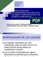 GENERALIDADES DEL EQUILIBRIOHIDRO ELECTROLÍTICO