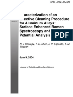 , Esposito - Characterization of an Effective Cleaning Procedure for Aluminum Alloys Surface Enhanced Raman Spectroscopy and Zeta Potential Analysis