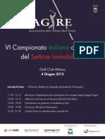 VI Campionato Italiano a Squadre del Settore Immobiliare - 4 giugno 2012 Golf Club Milano - AGIRE e Antoitalia