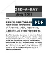 Word-A-Day Flyer for Directed Energy Weapon