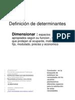 Definición de determinantes