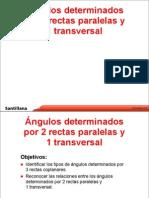 Angulos entre rectas