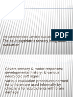 Adult Psychiatric Sensory Integration Evaluation