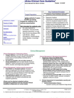 Asthma Clinical Care Guidelines