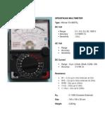 spesifikasi multimeter